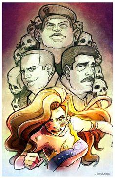 Increíble ilustración sobre el mes de protestas en Venezuela, por Rubén Yépez.