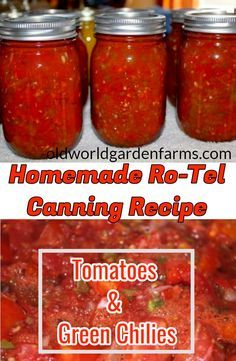 Chili Canning Recipe, Home Canning Recipes, Canning Tips, Cooking Recipes, Pressure Canning Recipes, Cooking Food, Tomato Canning Recipes, Gastronomia, Vegetable Garden