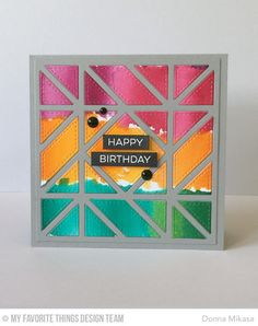 Label Maker Sentiments, Diagonal Quilt Square Cover-Up Die-namics - Donna Mikasa  #mftstamps