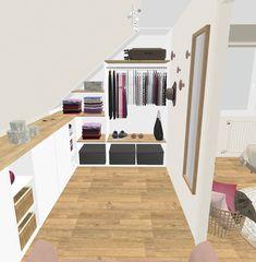Projet client: une salle apaisante d& scandinave - Sonia Saelens déco Projet client: une salle apaisante d& scandinave - Sonia Saelens décoGemütliches Schlafzimmer? Loft Storage, House, Home, Closet Bedroom, Bedroom Design, Bedroom Loft, Loft Spaces, Loft Conversion Bedroom, Attic Bedroom Designs