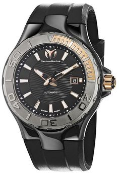 Technomarine Ceramic Black Ceramic Mens Watch 110035 BY Technomarine