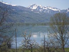 Plavsko Lake and the Prokletije mountain range on the Albanian border.