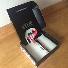 Kylie gloss in literally Never used. Includes the gloss box, Kylie's note, and the shipping box Kylie cosmetics Makeup Lip Balm & Gloss