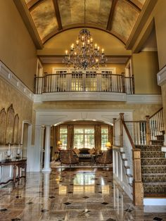 Kilgore home in Greenville, SC - love the stair carpet, finishes, door entry to living room, ceiling