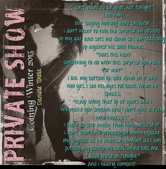 A teaser for Private Message's sequel Private Show! Teaser, My Books, Messages, Sayings, My Love, Quotes, Quotations, Lyrics, Word Of Wisdom