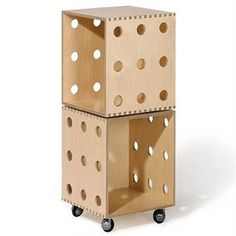 Birch Ply Wood Stackable Storage Boxes with Casters