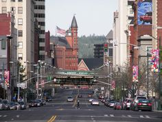 Spokane, WA : Riverside Ave - This was bumper to bumper on weekend nights. Crusin by Smokey Robinson and the Miracles