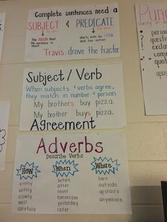 Subject/predicate , adverbs - Alicia Charles - It is The Time Club Teaching Writing, Student Teaching, Teaching Tips, Teaching English, Writing Resources, Fourth Grade Writing, 4th Grade Ela, 4th Grade Reading, Classroom Management