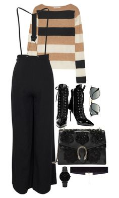"""""""Untitled #2990"""" by theaverageauburn on Polyvore featuring MaxMara, Giuseppe Zanotti, Gucci, CLUSE, 8 Other Reasons and Ray-Ban"""