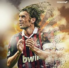 Ac Milan Kit, Football Paintings, Paolo Maldini, Fc Chelsea, European Soccer, Soccer Stars, Zinedine Zidane, Fight Club, Tottenham Hotspur