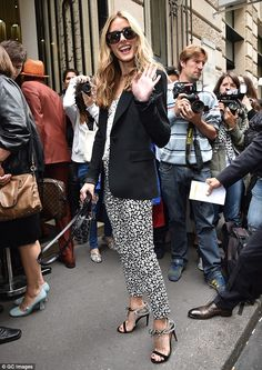 Olivia Palermo at the 2014 Elie Saab show at Paris Fashion Week