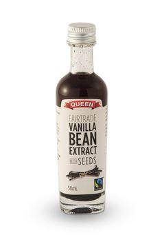 Queen Fairtrade Vanilla Bean Extract with Seeds - Queen Vanilla - www.queen.com.au