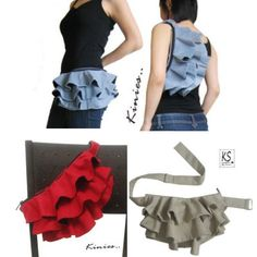 Cute take on the fanny pack. This would be cute as part of a disneybound, like part of a minnie skirt