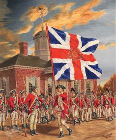 Subjects of the Crown Britian's final show of strength in Williamsburg, Virginia. Sunner, 1781