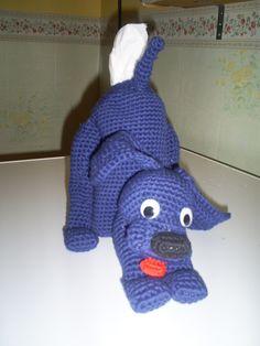 Pottie Peeker Puppy Tissue Holder By Agnes Russell - Free Crochet Pattern - (ravelry)