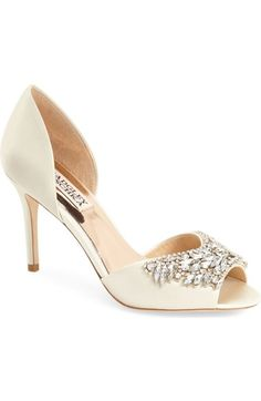 Badgley Mischka 'Candance' Crystal Embellished d'Orsay Pump (Women) available at #Nordstrom