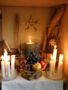 Mabon - Autumnfeast altar 2013 by thasure on deviantART