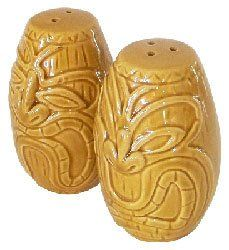 Hawaii Salt & Pepper Ceramic Shakers Drum Barrels by KC. $12.49. Hawaiian Home Accessories add a beautiful and warm tropical touch to your home or office!. Hawaiian Salt and Pepper Ceramic Shakers - Two piece set. Island style decor for your kitchen. Item #60016 KC