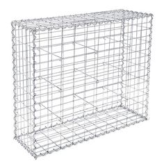 IN STOCK: best prices on Gabion Stone Wire dia 4 mm Mesh size 10 x Galvanized 100 x 80 x - choose between 7 Stone fence Gabion Stone, Stone Fence, Wire Mesh, Metal Mesh, Wall Bench, Bench Seat, Metal Garden Benches, Wire Fence, Galvanized Steel
