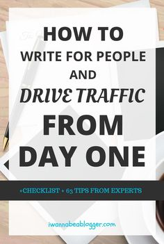 Effective tips for writing your first blog post that drive traffic from day one!