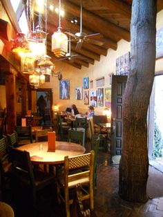 The Pink Adobe in Santa Fe, NM...from the tree growing in the bar to the green chile stew, this place is not to be missed!