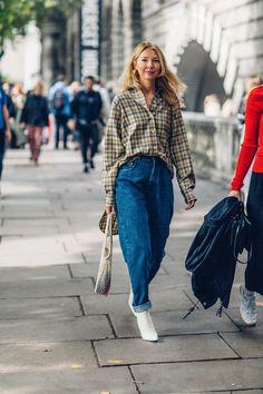On the street at London Fashion Week. Photo: Moeez Ali