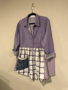 The Augusta tunic:  Upcycled eco friendly romantic violet