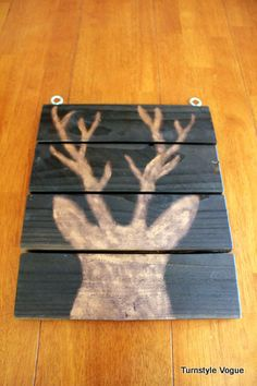 Copper deer silhouette wall hanging.. you could do anything silhouette with this - looks great!