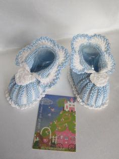 Crochet Baby Boy booties Polar Bear booties Boy Blue by MILAVIKIDS, $23.99