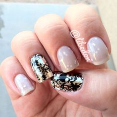 #nailspotting - my nails - #opi My Pointe Exactly and #sephora mail appliqués. Love the mix of hard and soft! @sephora