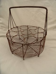 Antiques Atlas - French Wirework Duck/Goose Egg Basket