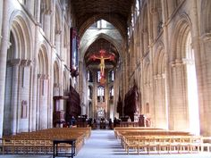 Nave. Peterborough Cathedral.