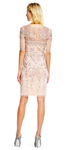 Shop Adrianna Papell special occasion dresses now. Crafted with artisanal precision Adrianna Papell offers evening wear, daywear, wedding dresses & more. Blush Dresses, Short Dresses, Dresses For Work, Women's Dresses, Lace Dress, Dress Up, Bodycon Dress, Diana Wedding Dress, Beaded Gown