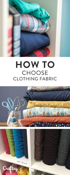 Learn about the 12 types of fabric commonly used for sewing garments and how to choose a pattern to match your fabric on Craftsy.