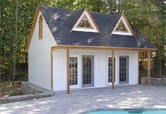 Summerville pool cabana house design house plans and for 10x20 tiny house floor plans