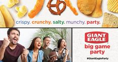 Watch the big game with your friends and show them how Giant Eagle and Market District brand snacks will upgrade all their game day. Free Sweepstakes, Wedding Sweepstakes, Travel Sweepstakes, Earn Free Money, Giant Eagle, Store Coupons, Big Party, Frugal Tips, Party Packs