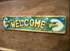 Harley Eagle Chainsaw Carving Welcome Sign