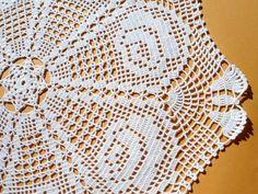 Tapete de crochet blanco mantel de encaje tapete por kroshetmania