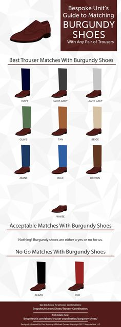 Burgundy Shoes – Visual Guide To What Color Trousers To Wear via Source by shoes outfit Burgundy Shoes Men, Burgundy Sneakers, Gents Fashion, Best Mens Fashion, Trendy Fashion, Fashion Tips, Olive Jeans, Men Style Tips, Casual Boots