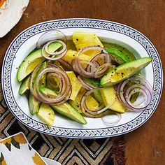 This refreshing, simple Cuban salad recipe captures the flavors of the tropics. Serve alongside spiced chicken or pork, with rice and beans. Cuban Salad Recipe, Avocado Salad Recipes, Cantaloupe Recipes, Radish Recipes, Cuban Recipes, Whole Food Recipes, Cooking Recipes, Healthy Recipes, Avocado Dessert