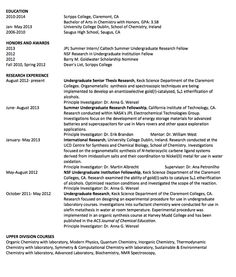 senior thesis resume 2l resume name email address cell phone current address permanent address  honors: scholarship for senior thesis research dean's list activities: swim team, co.