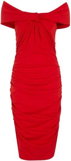ALEXON ENGLAND French Crepe Bardot Dress - Lyst