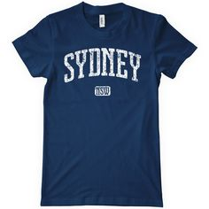 Women's Sydney T-Shirt Size Large Australia Ladies Tee Navy Blue (20 AUD) ❤ liked on Polyvore featuring tops, t-shirts, black, women's clothing, graphic tees, navy blue tank top, old navy tees, black cotton t shirt and old navy t shirts