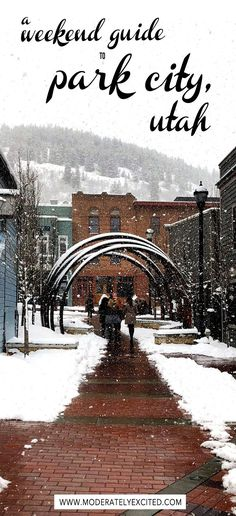 A weekend travel guide to Park City, Utah - especially great for first-timers! Everything you need to see, eat and do in the ski town of Park City, Utah.