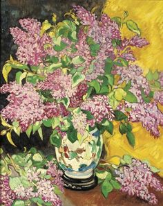 Bouquet de lilac à la poitiche chinoise (c. by Louis Valtat French artist associated with the Fauves (mutual art) Watercolor Flowers, Watercolor Paintings, French Artists, Painting Inspiration, Art Images, Art Lessons, Pastels, Flower Art, Modern Art