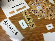Scrabble sight word and math game - 2 in 1!