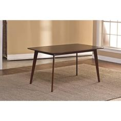 Allentown Dining Table, Cappuccino, Component - Walmart.com $191