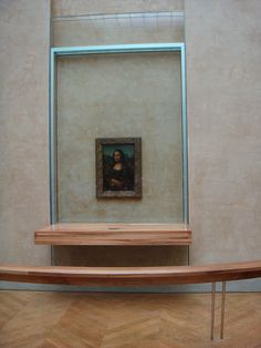 The Mona Lisa is literally this small!!  Louvre Museum Paris, France