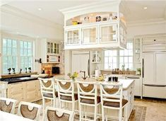 LOVE the cabinet over the island!! Weinreb Schultz Design Associates