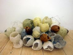 Installation - wax eggs